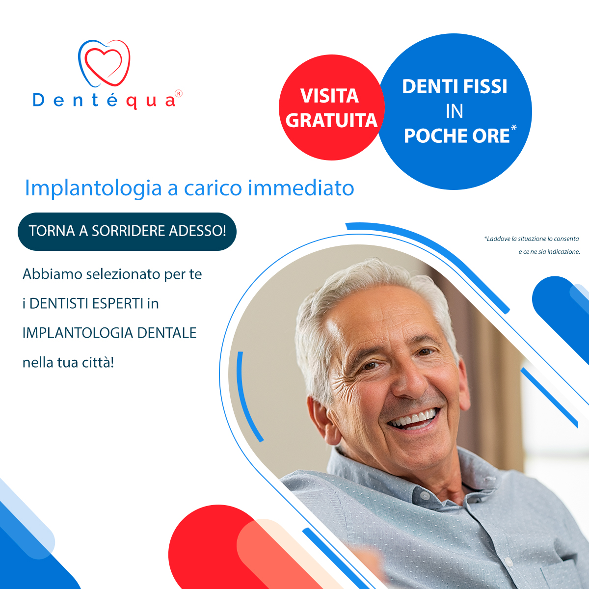 implantologia carico immediato trova dentista